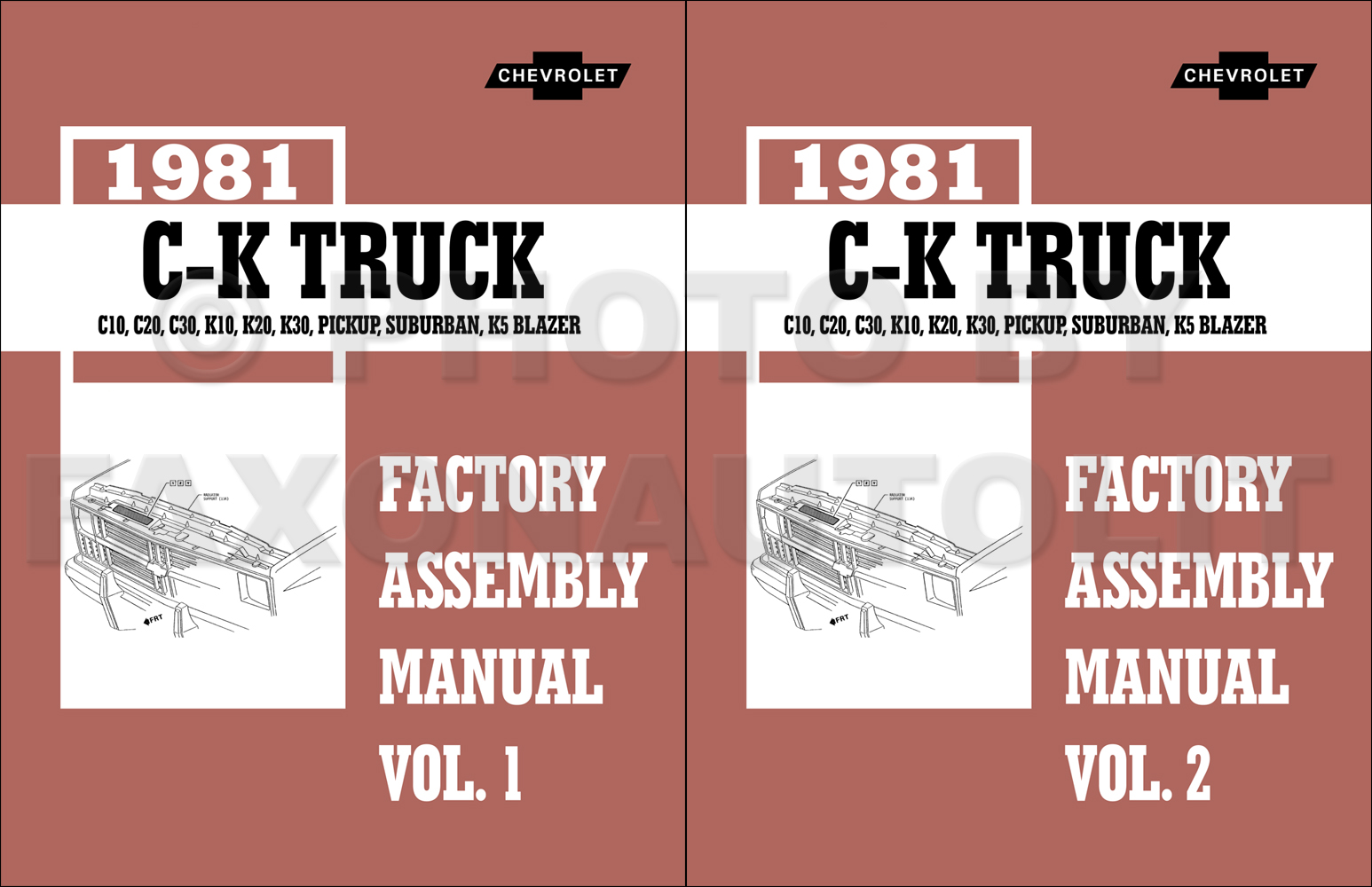 1981 Chevy CK Truck Assembly Manual Reprint Pickup Suburban Blazer also GMC