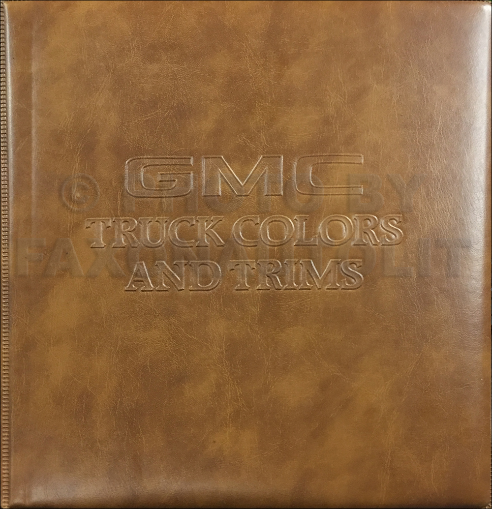1981 gmc color upholstery dealer album original 169 00