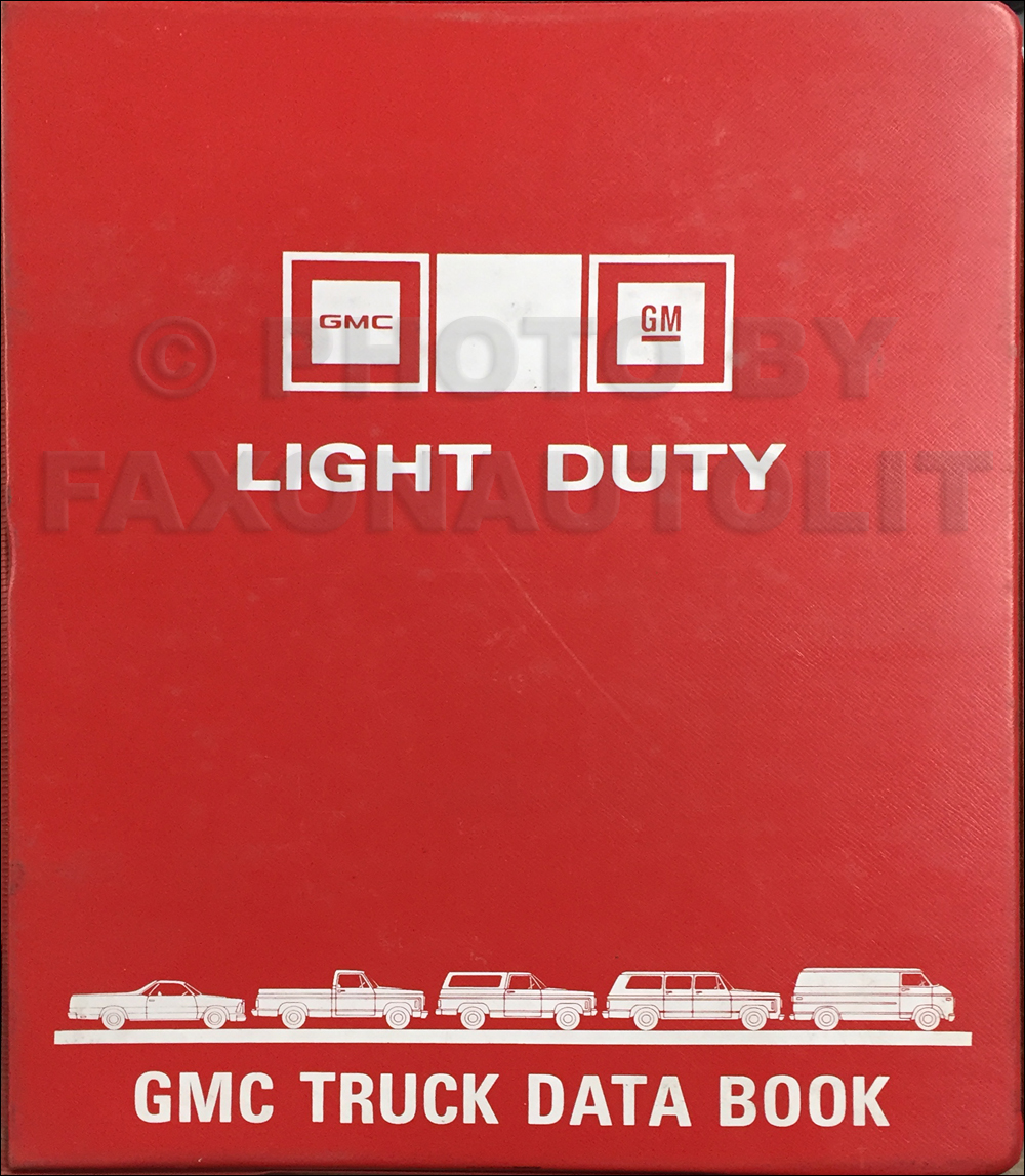 1981 gmc light duty data book original 139 00