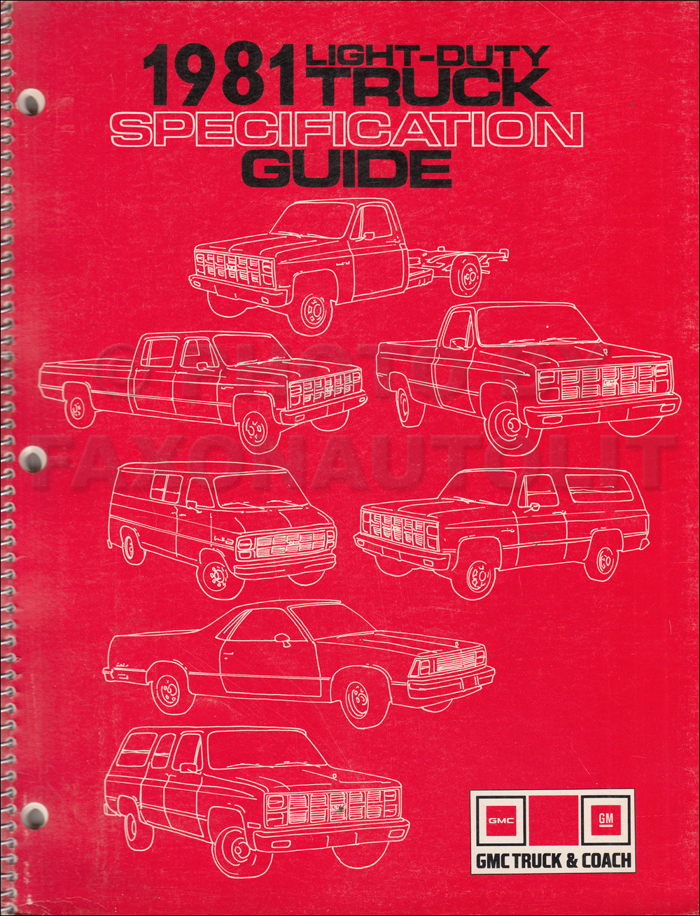 1981 gmc specifications guide competitive comparison dealer album original