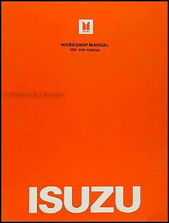 1981 Isuzu I-Mark Diesel Engine Repair Manual Original