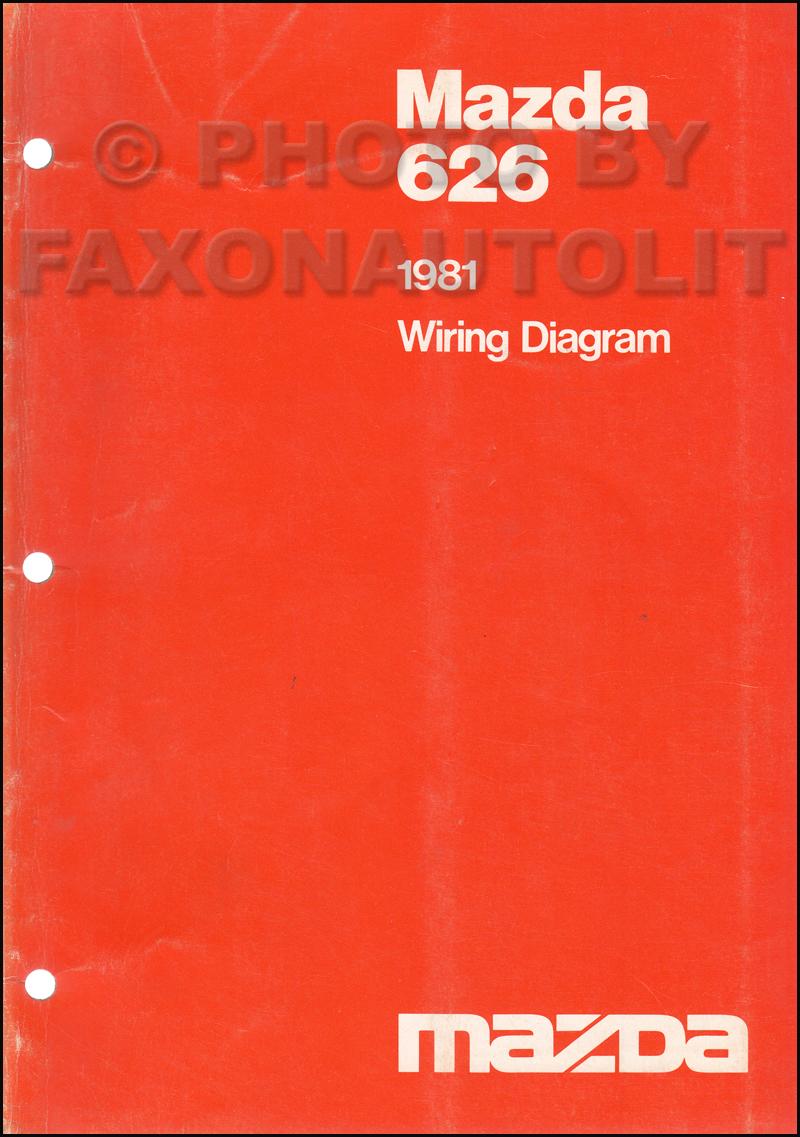 1981 mazda 626 wiring diagram manual original rh faxonautoliterature com 2000 mazda 626 radio wiring diagram mazda 626 wiring diagram radio