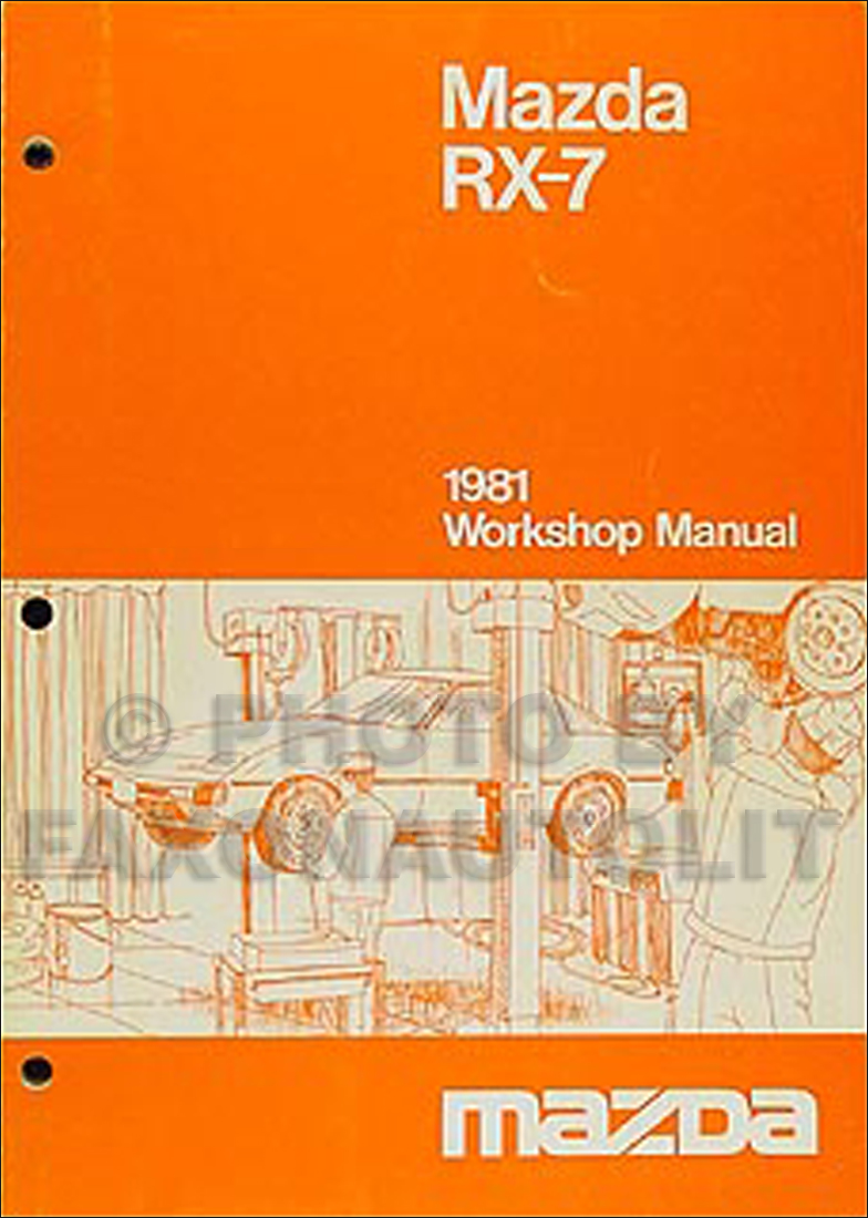 1981 Mazda RX-7 Repair Manual Original