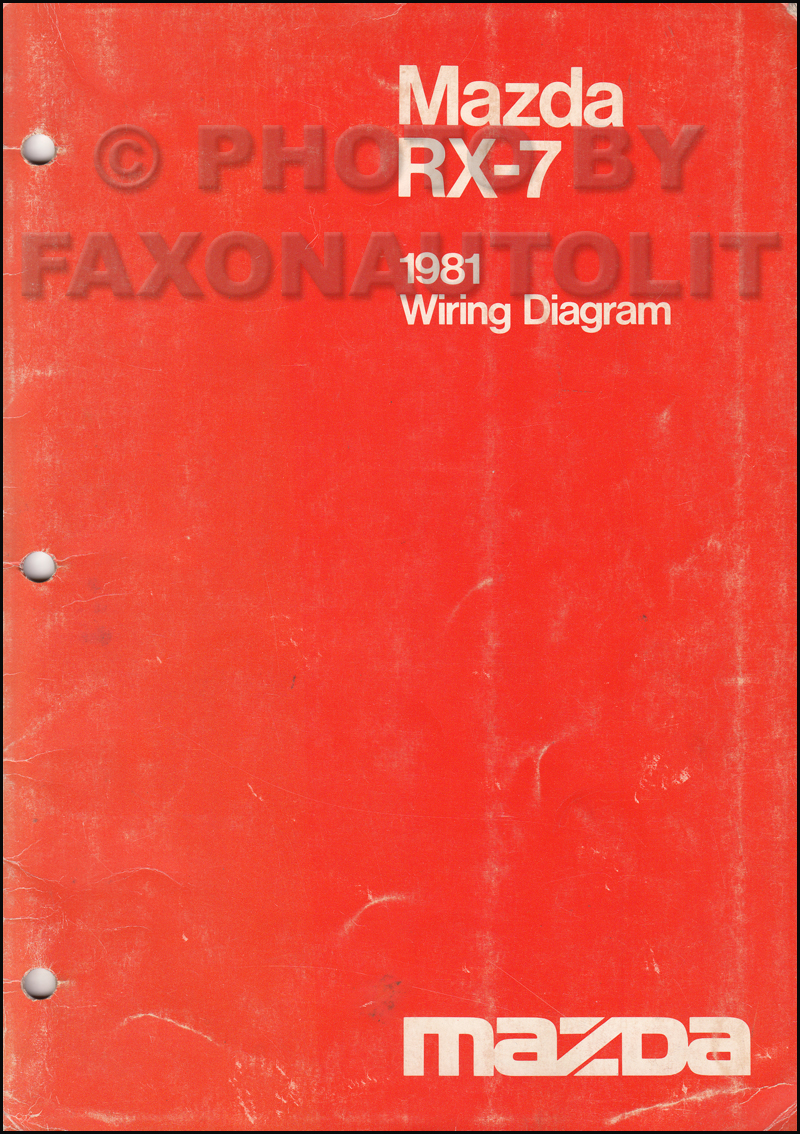 1981 Mazda Rx 7 Wiring Diagram Manual Original Rx7 Diagrams