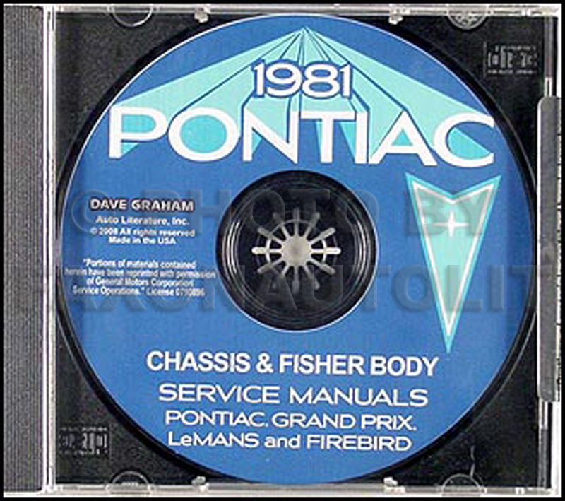 1981 Pontiac Shop Manual and Body Manual CD-ROM