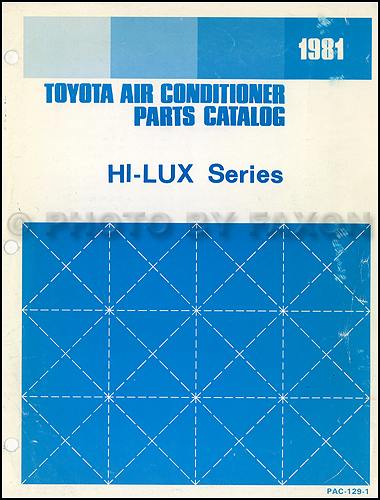 1981 Toyota Hi-Lux Pickup Air Conditioner Parts Catalog Original