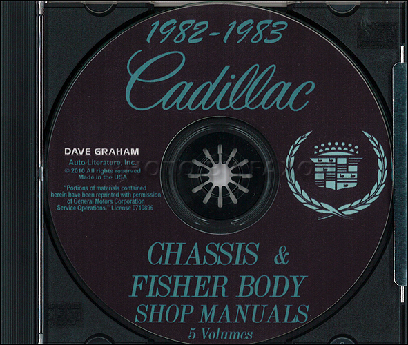 1982-1983 Cadillac Repair Shop Manual and Body Manual on CD-ROM