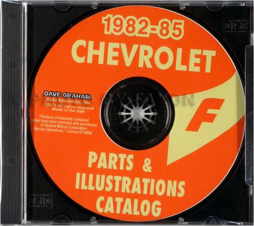 1982-1985 Chevrolet Camaro Parts Book CD-ROM
