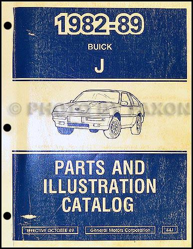 1982-89 Buick Skyhawk Parts Book Original