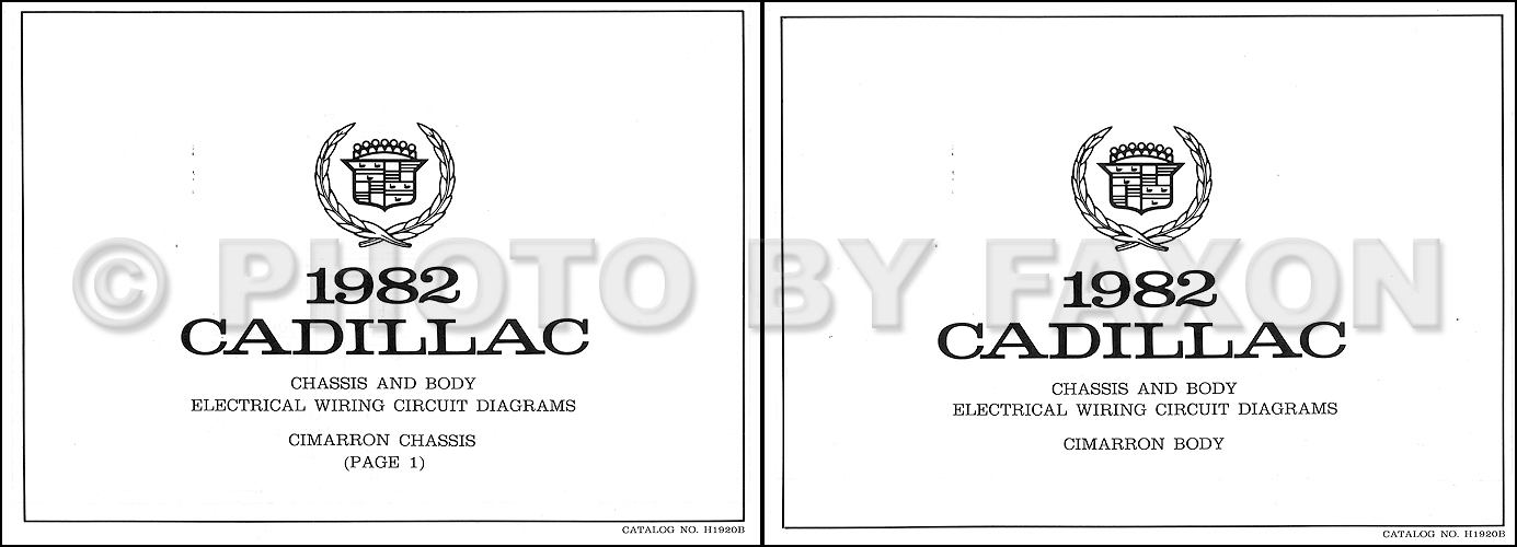 1982 cadillac cimarron foldout wiring diagrams original 1962 Cadillac Wiring 93 Cadillac DeVille Wiring-Diagram