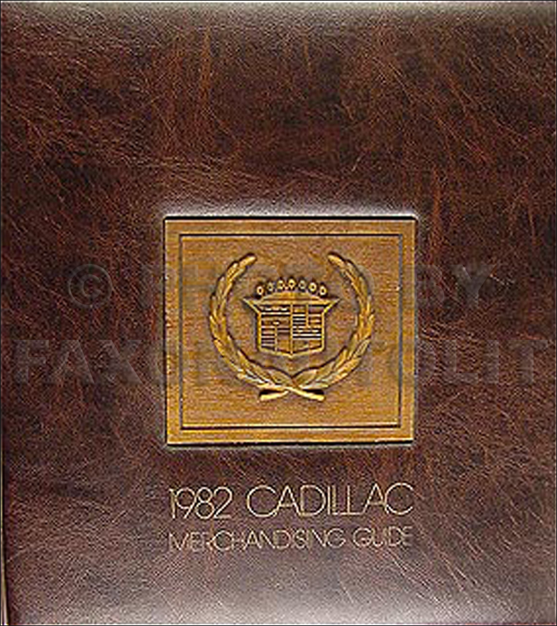 1982 Cadillac Merchandising Guide - Data Book and Color & Upholstery Album