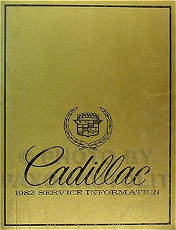 1982 Cadillac Shop Manual Original