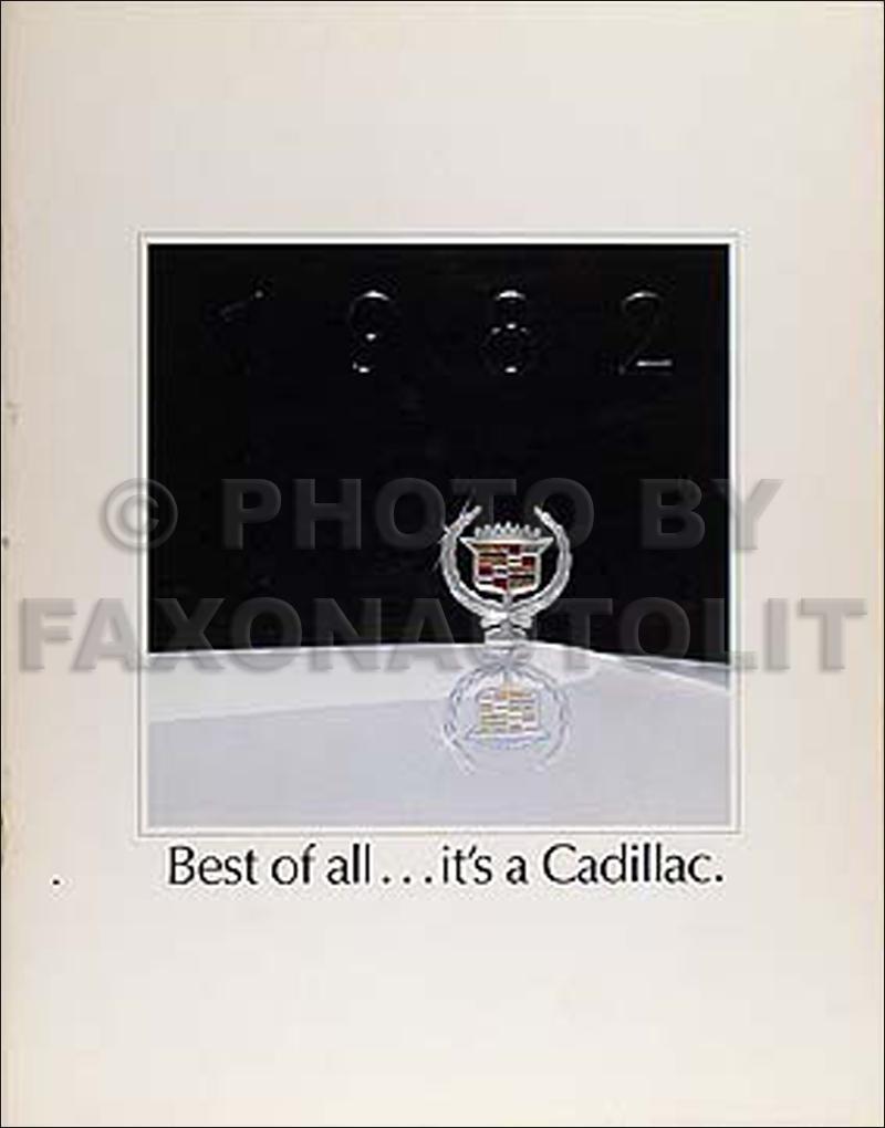 1982 Cadillac Color Sales Catalog Original