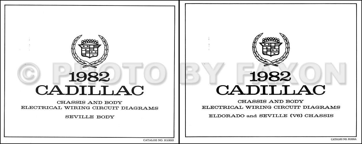 1982 Cadillac Seville V6 Wiring Diagram Set Color