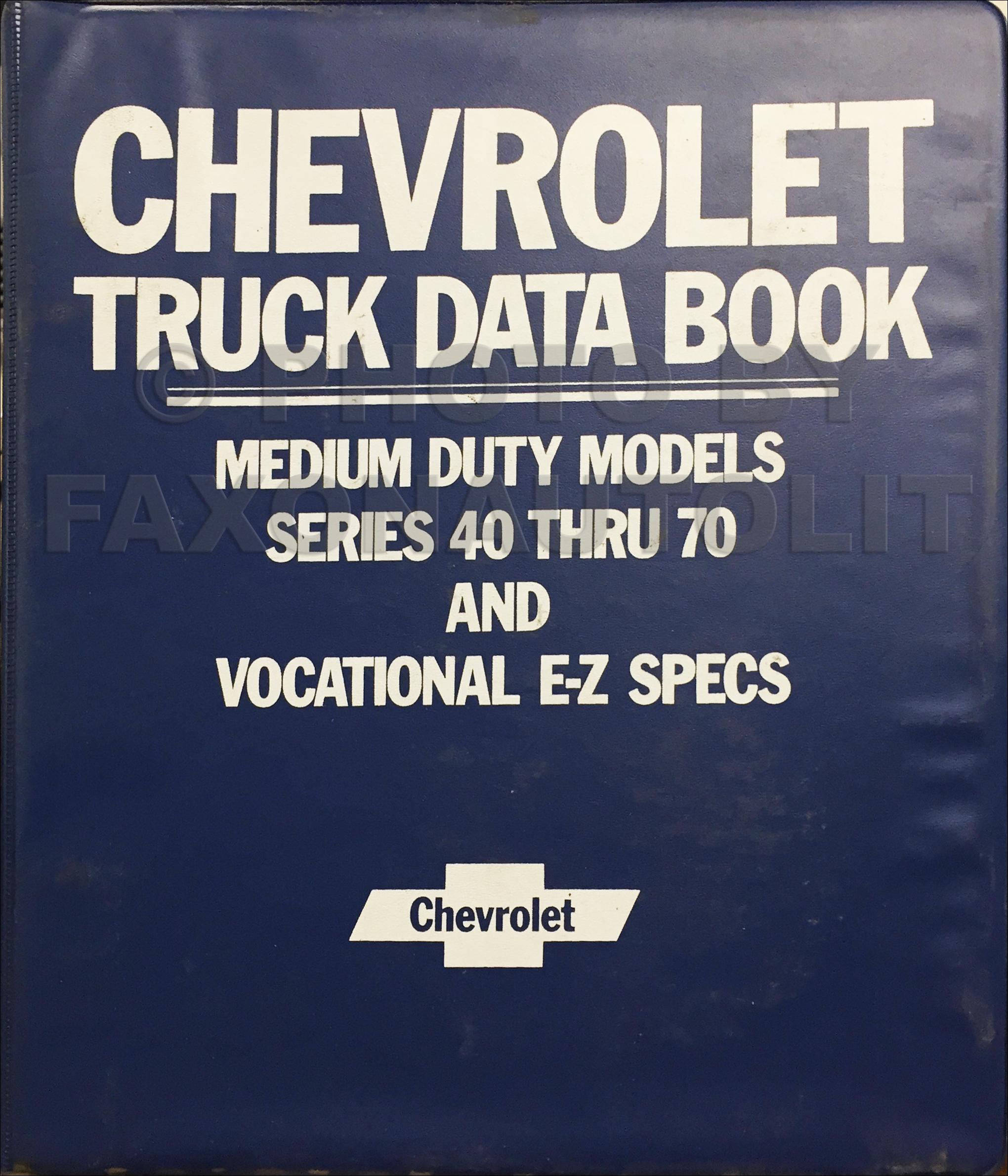 1982 Chevrolet And Gmc Medium Duty C50 C60 C70 Gas Wiring