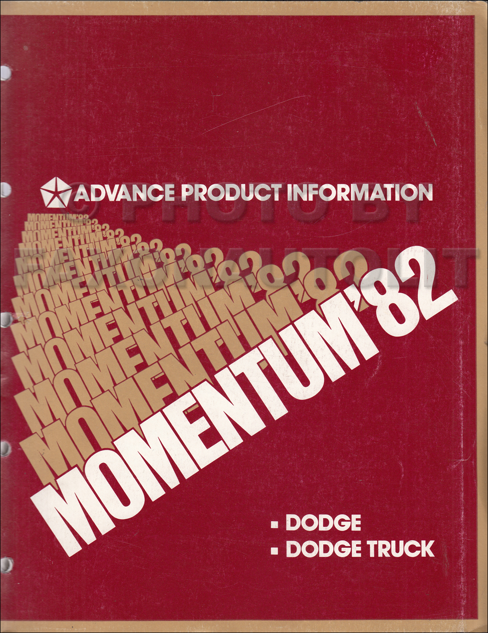 1982 Dodge Sales Training Album Original Advance Data And Color Rampage Wiring Diagram Upholstery