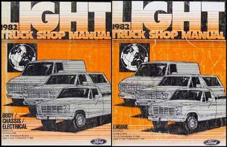 1982 ford pickup wiring diagram f100 f150 f250 f350 1982 ford truck repair shop manual set e f 100 350 bronco econoline van