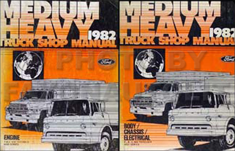 1982FordMediumHeavyDutyTruckORMSet 1982 ford f b c 600 8000 medium heavy truck repair shop manual set Ford F700 Wiring Diagrams at readyjetset.co