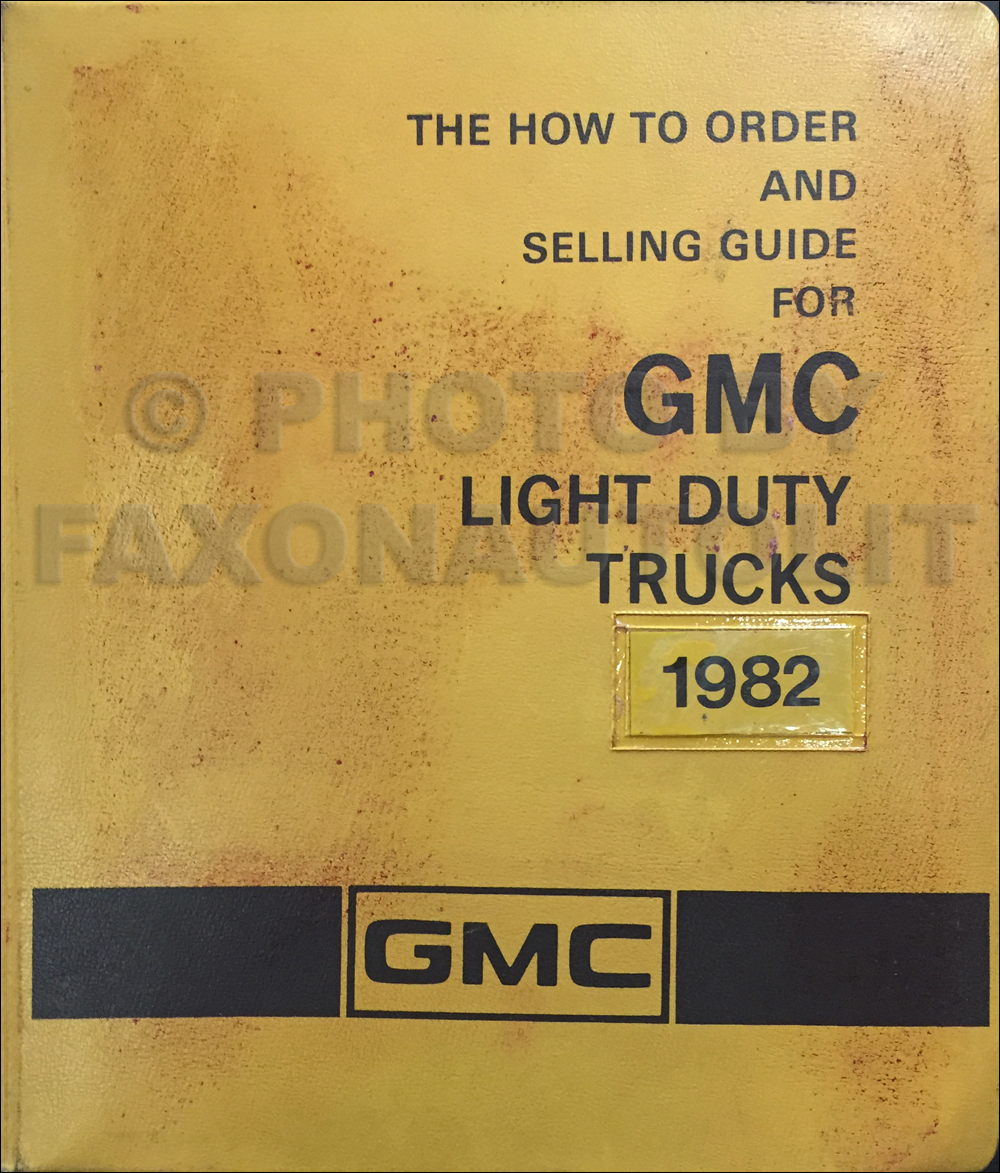 1982 gmc truck colors