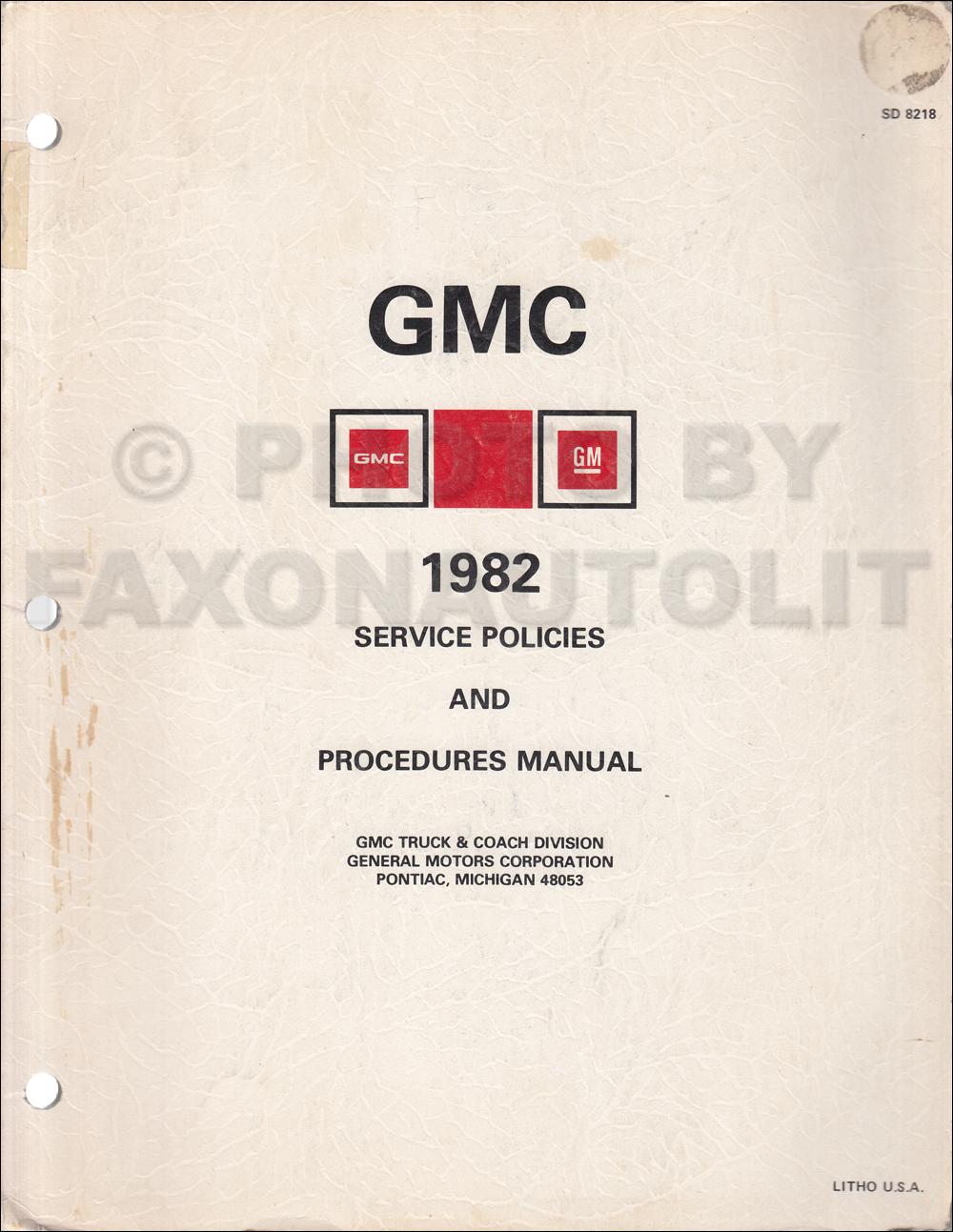 1982 Chevrolet And Gmc Medium Duty C50 C60 C70 Gas Wiring Diagram Original C5000 C6000 C7000