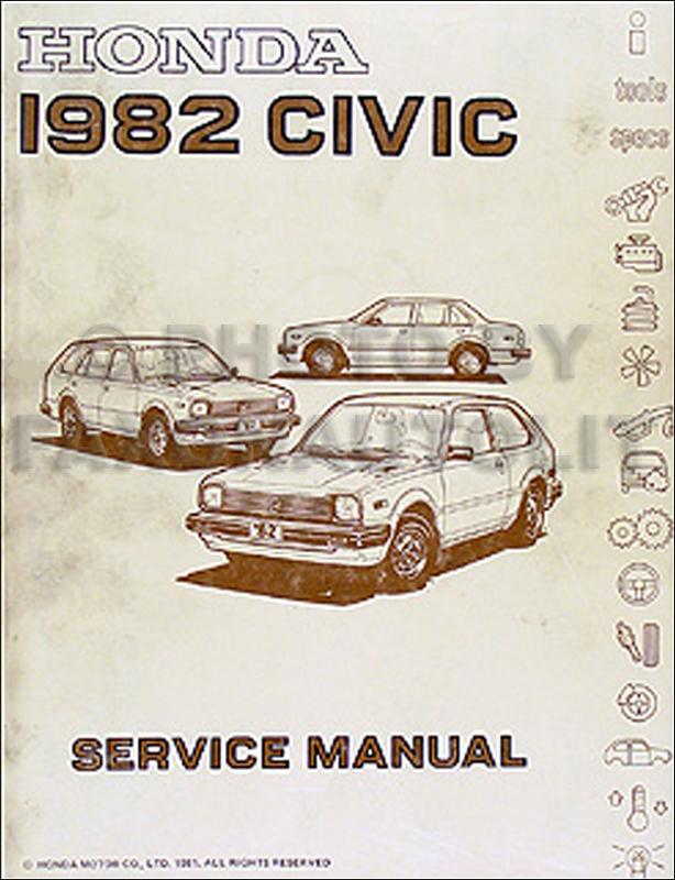 1982 Honda Civic Repair Manual Original