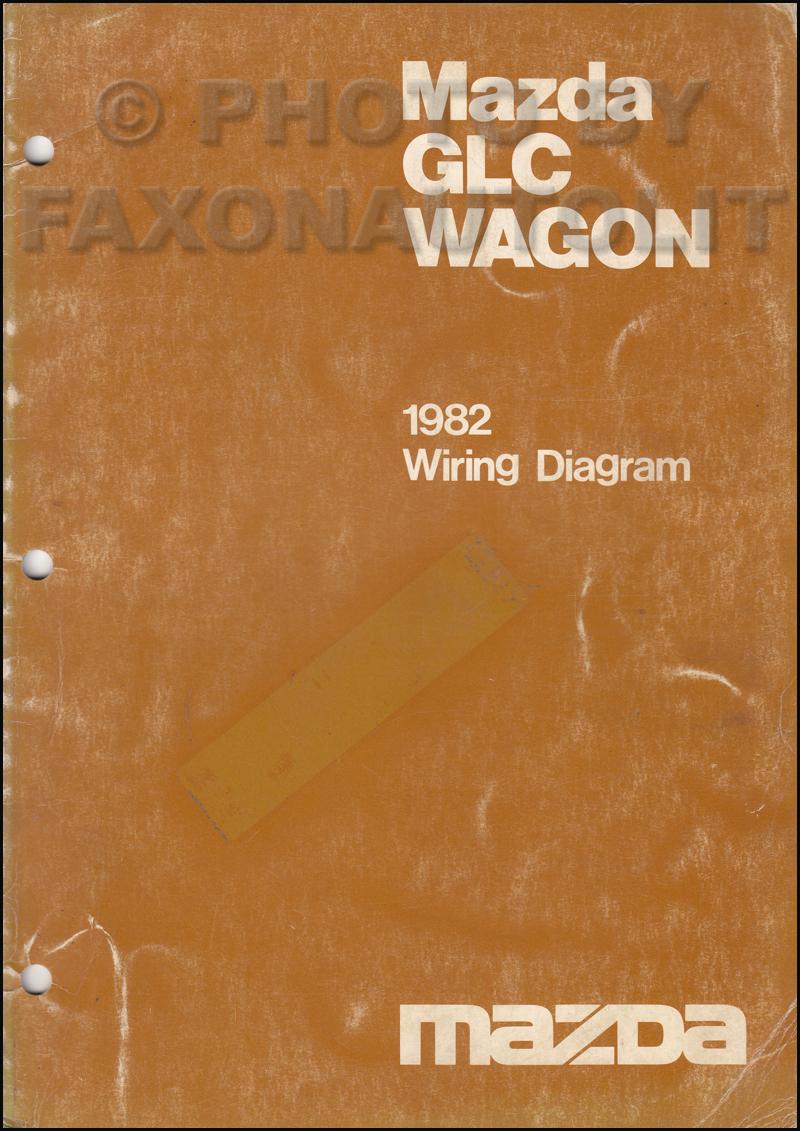 1982 mazda glc wagon wiring diagram manual original. Black Bedroom Furniture Sets. Home Design Ideas