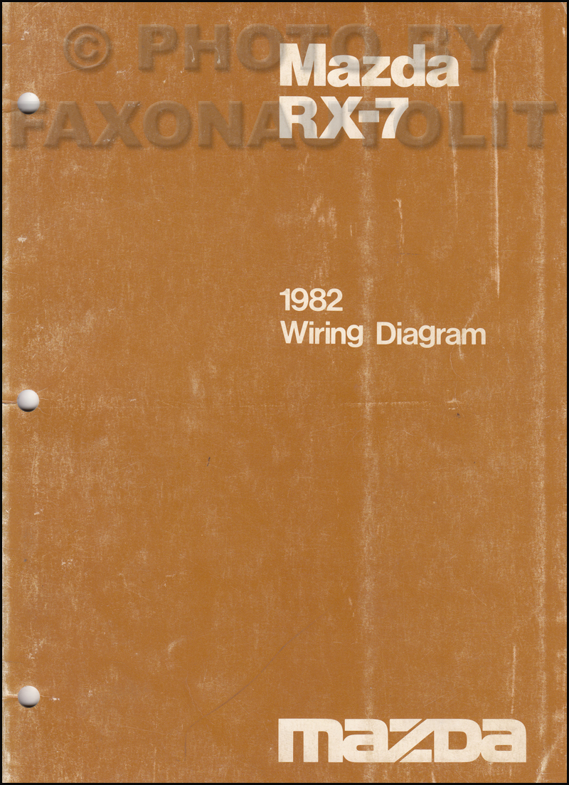 1982 mazda rx 7 wiring diagram manual original rx7
