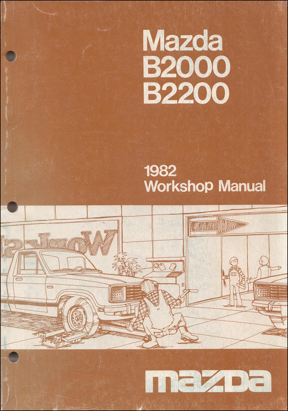 1982-1983 mazda b2000 & b2200 truck repair shop manual ... 1987 mazda b2000 engine diagram 1982 mazda b2000 wiring diagram
