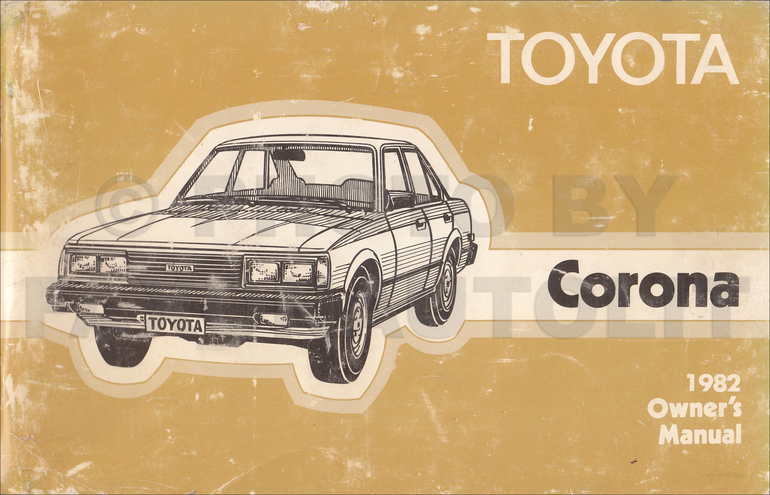 Toyota Corona repair manual