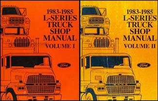 1983 85L SeriesORMSet 1983 1985 ford l series truck repair shop manual ln lt lns ltl lts ford ltl 9000 wiring diagram at creativeand.co