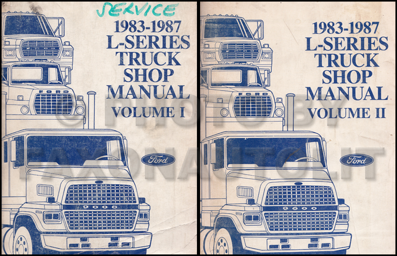 ford l series foldout wiring diagram ltl l l l 1983 1987 ford l series 7000 9000 repair shop manual original 2 volume set 199 00