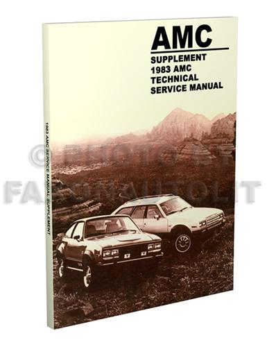 1983 amc repair shop manual supplement reprint
