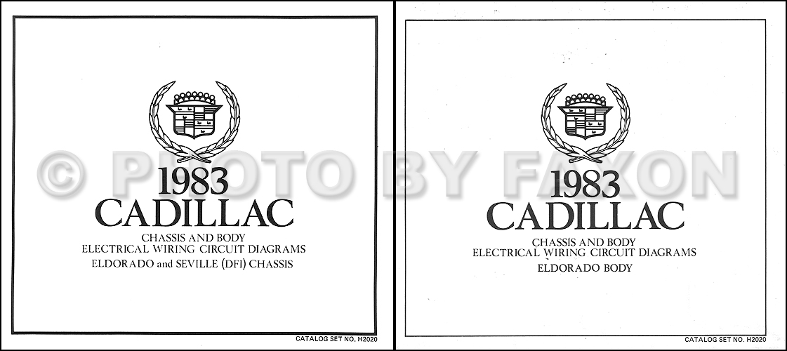 1983 Cadillac Eldorado Gas Wiring Diagram Color Set