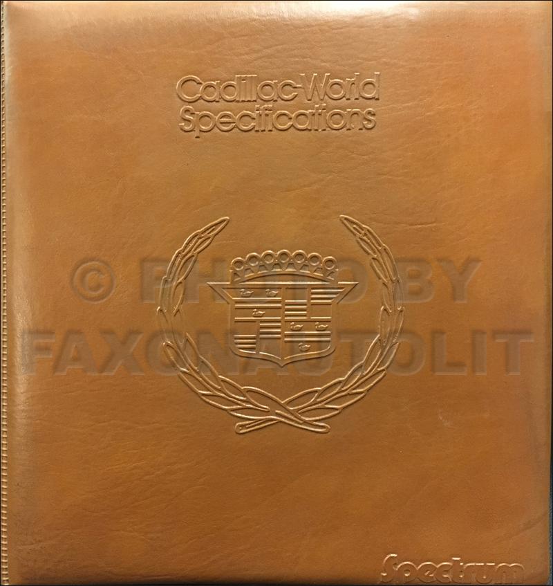 1983CadillacSpectrumCompetitiveComparison 1983 cadillac electrical troubleshooting manual original 1984 Seville at nearapp.co