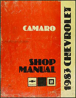 1983 Chevy Camaro Repair Manual Original