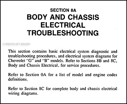 chevy electrical troubleshooting impala caprice bu monte table of contents