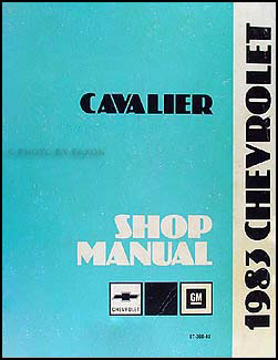 1983 Chevrolet Cavalier Owners Manual Chevrolet