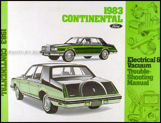 1983 lincoln continental foldout wiring diagram original