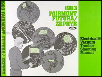 1983 ford fairmont futura and mercury zephyr wiring diagram original