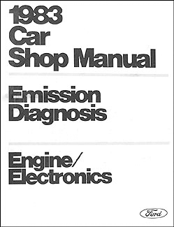 1983 car engine emissions diagnosis manual original on ford lynx wiring diagram Ford Electrical Wiring Diagrams Ford Truck Electrical Diagrams