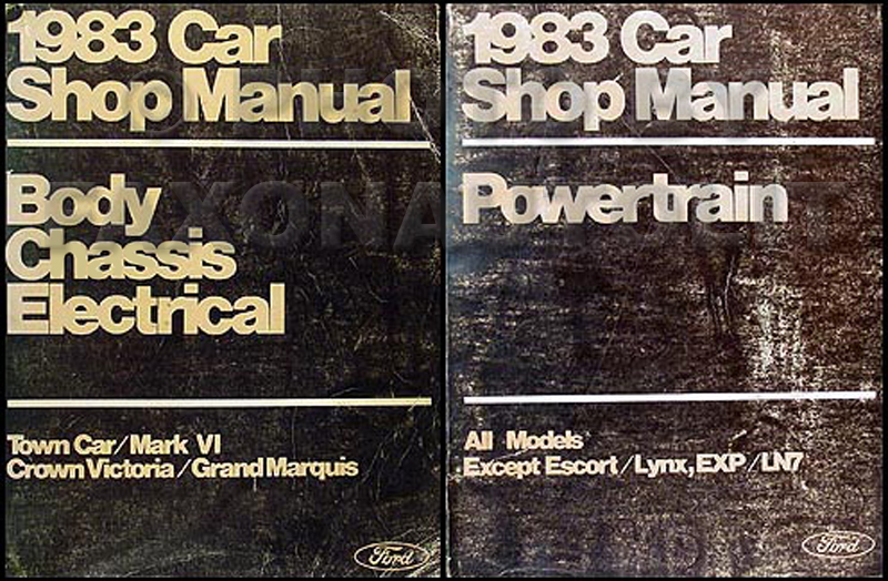 1983 Ford Ltd And Mercury Marquis Electrical