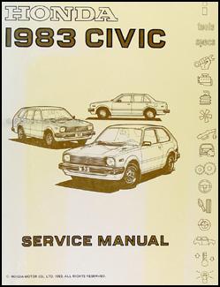 Beautiful 1983 Honda Civic Repair Manual Original