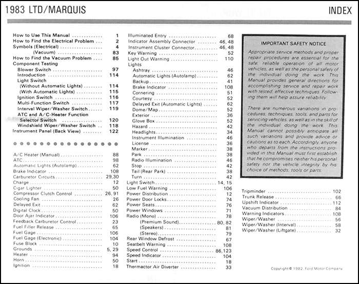 1983 Ford LTD And Mercury Marquis Electrical Troubleshooting Manual P13600 on 1935 ford 4 door sedan