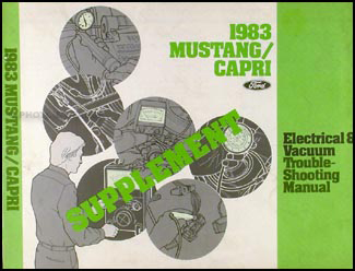 1983 Ford Mustang    Mercury    Capri Foldout Wiring    Diagram