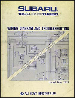 1983 subaru 1800 4wd turbo wiring and troubleshooting manual original rh faxonautoliterature com