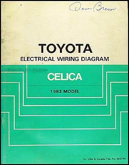1983 toyota celica wiring diagram manual original. Black Bedroom Furniture Sets. Home Design Ideas