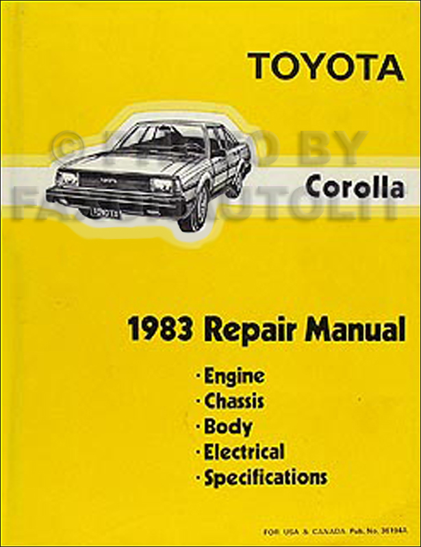1983 toyota corolla repair shop manual original rh faxonautoliterature com 1988 toyota corolla workshop manual free download 1988 toyota corolla repair manual pdf