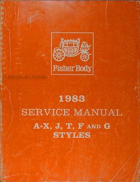 1983 Camaro, Firebird, & Trans Am Original Body Manual