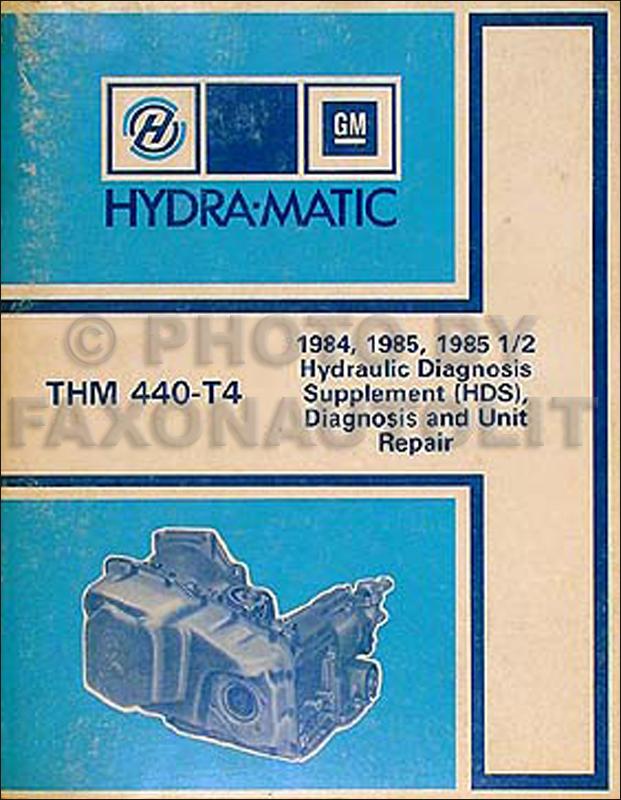 1984 85GMHydramaticORM 1984 cadillac repair shop manual original  at aneh.co