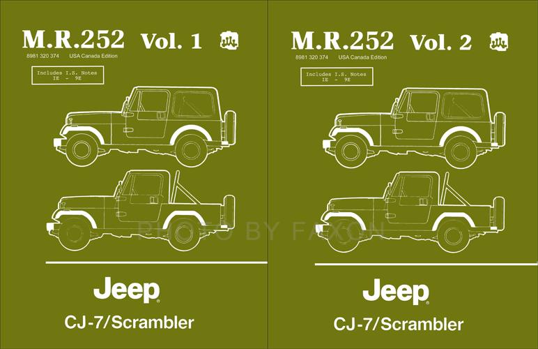 1984 1986 jeep cj 7 scrambler repair shop manual reprint 2 vol rh faxonautoliterature com manual jeep cj7 manual jeep cj5 pdf